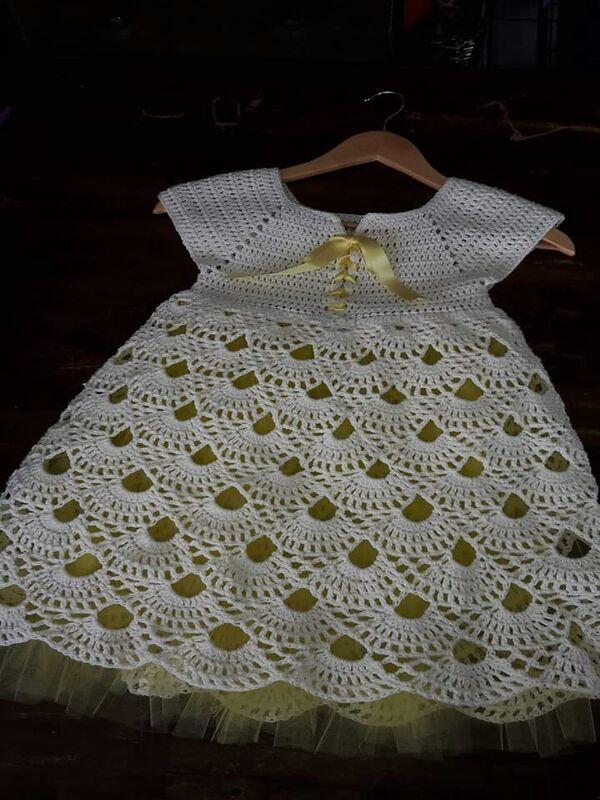 vestidos para bebe de crochet