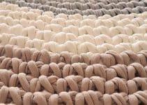 2 alfombras tejidas a mano