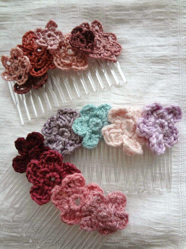 accesorios a crochet para el cabello bonitos