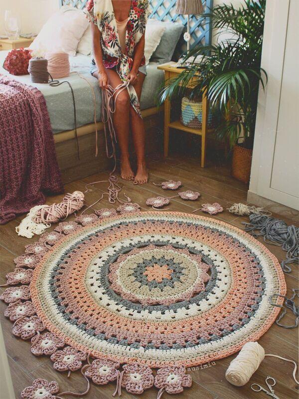 alfombra tejidas a mano con nudos