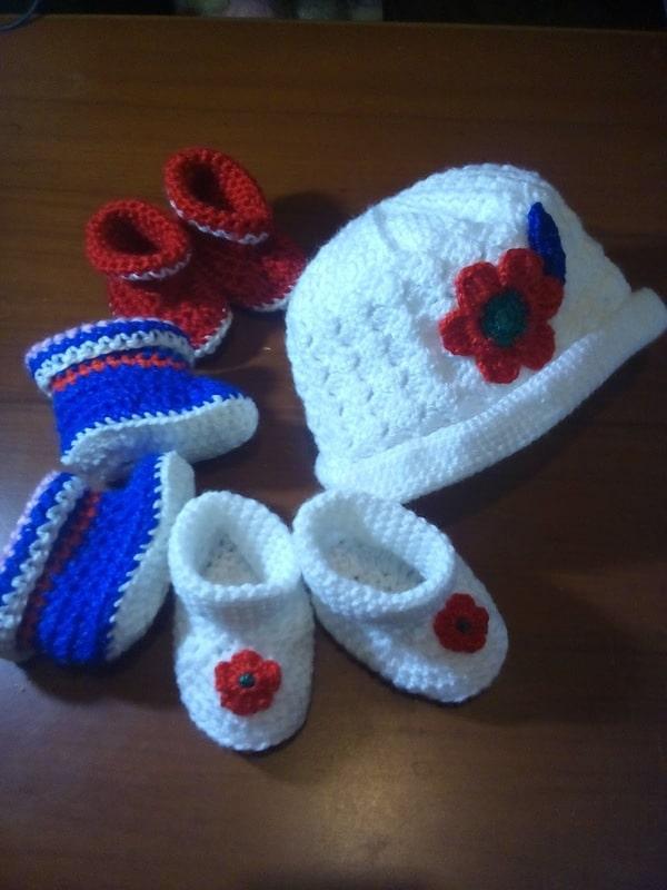botitas tejidas a crochet