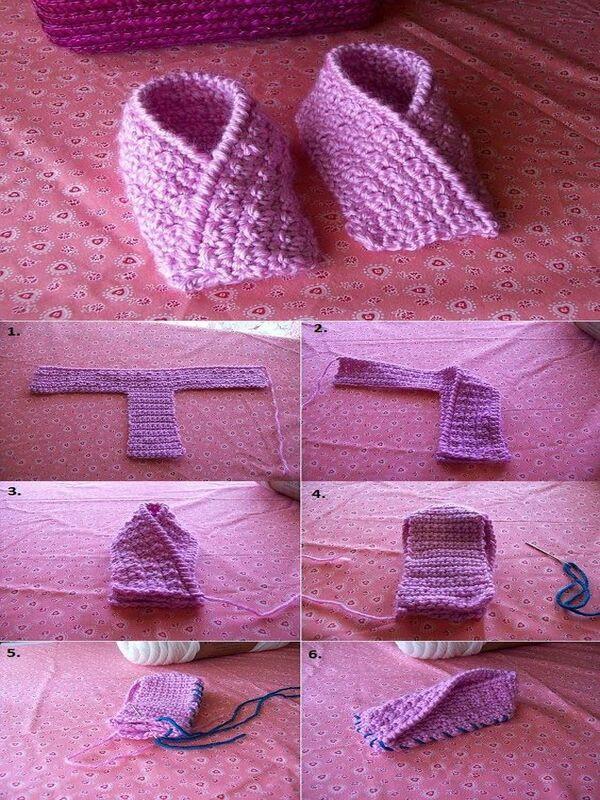 botitas tejidas a crochet para niñas
