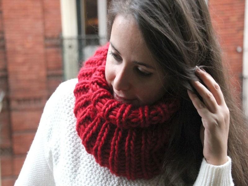 chalinas tejidas para mujer modernas