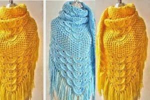 Chalinas tejidas a crochet en 2 colores