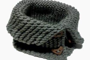 Cuelleras de lana para mujer a 2 dos agujas