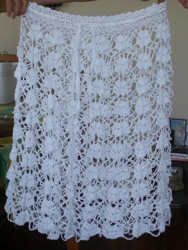 pollera tejida a crochet moderna