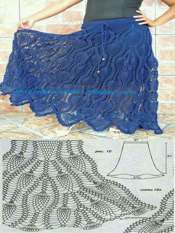 faldas tejidas a crochet patrones