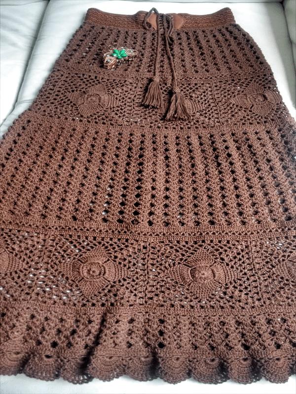faldas a crochet paso a paso