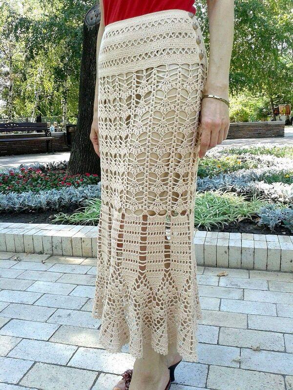faldas a crochet modernas paso a paso