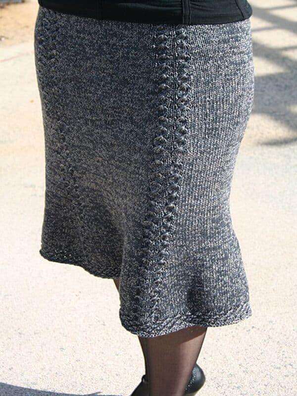 faldas tejidas a dos agujas