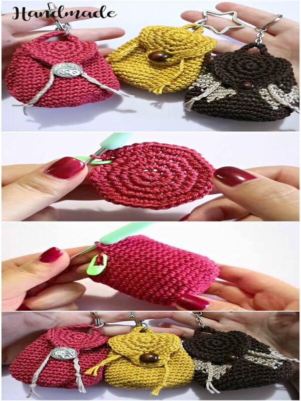 mini mochilas a crochet paso a paso