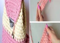 Mochilas a crochet paso a paso a 2 colores