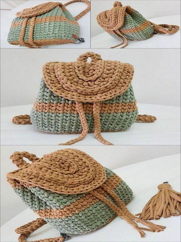 mochilas a crochet paso a paso sencillas