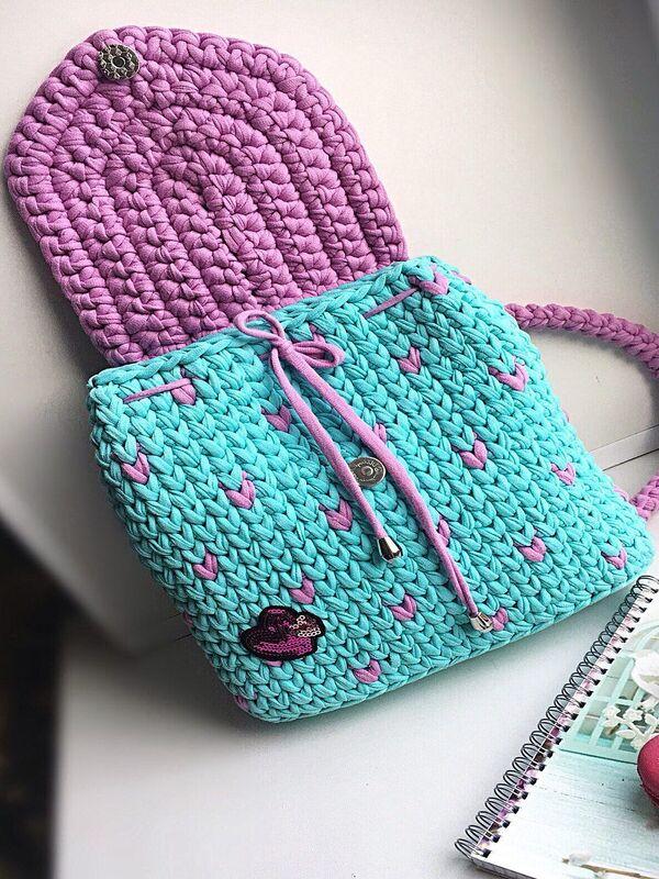 mochilas tejidas para niñas paso a paso