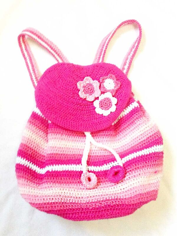 mochilas tejidas para niñas