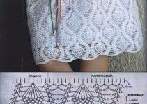 2 faldas tejidas a crochet patrones