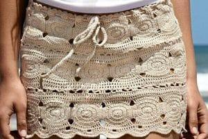 Polleras tejidas a crochet en 3 pasos