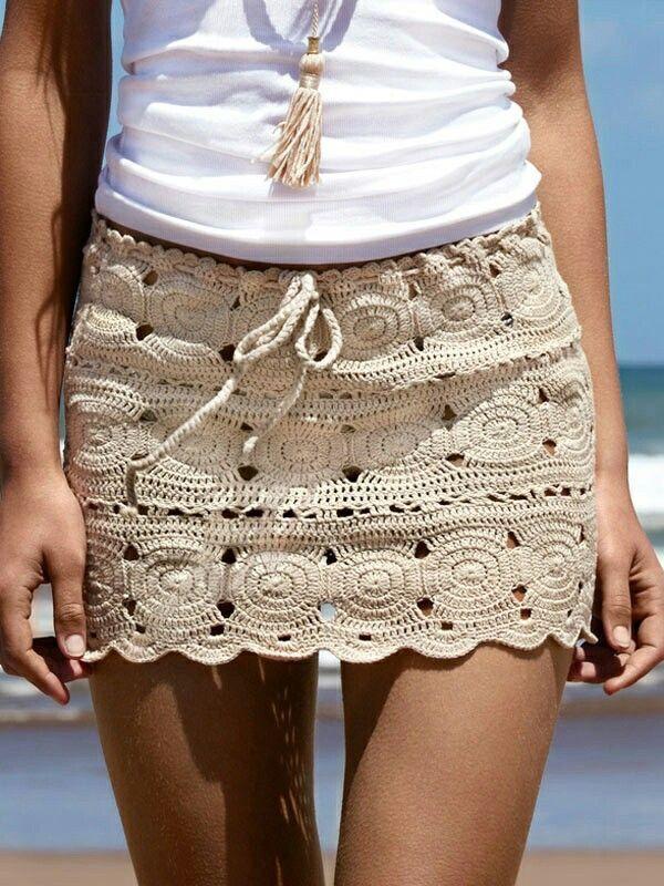 falda a crochet sencilla