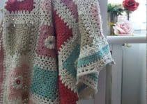 Mantas a crochet paso a paso de 80 cm por 90 cm