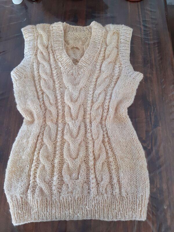 chaleco de lana de oveja para dama