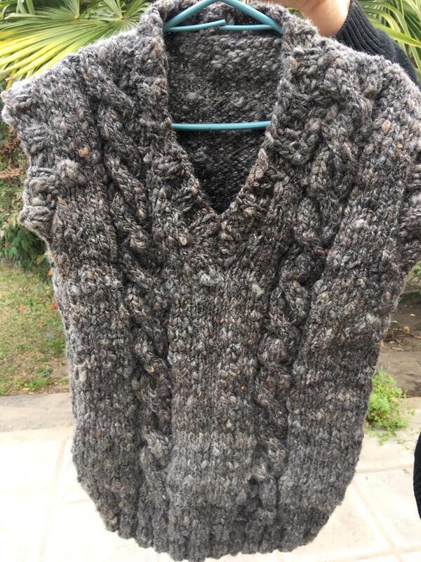 chaleco de lana de oveja
