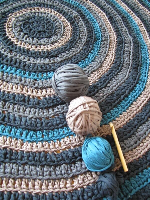 Alfombras a crochet paso a paso de 60 cm