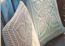 2 almohadones al crochet paso a paso