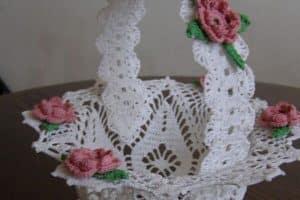 3 canastas tejidas en crochet