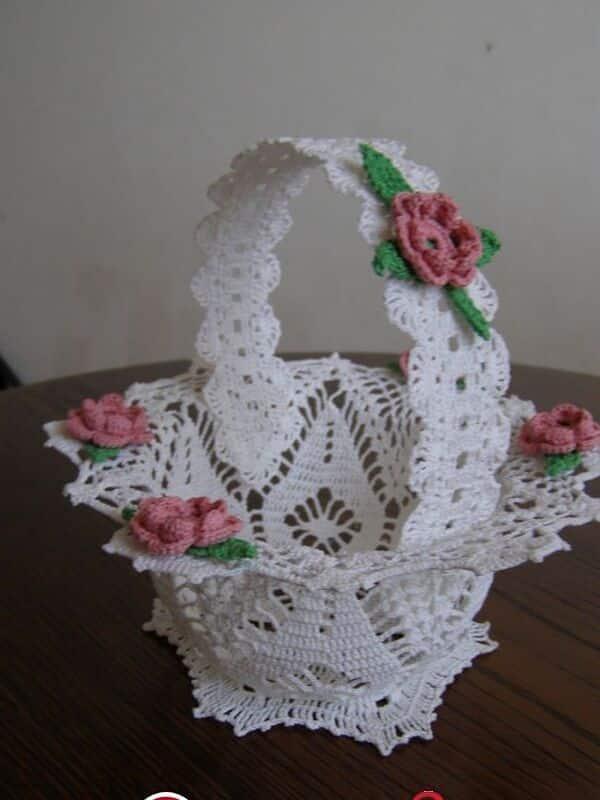 canastas tejidas en crochet