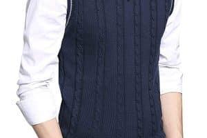Chalecos de lana para hombre a 2 agujas