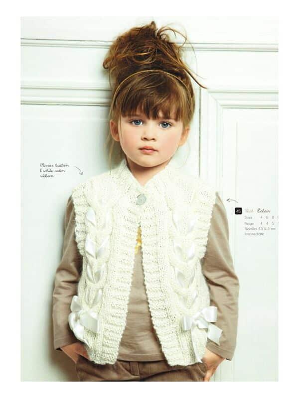 chalecos tejidos para niñas