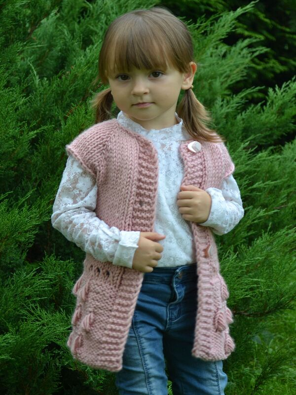 chalecos tejidos para niñas paso a paso