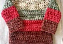 Chompas a crochet para niños de 5 años