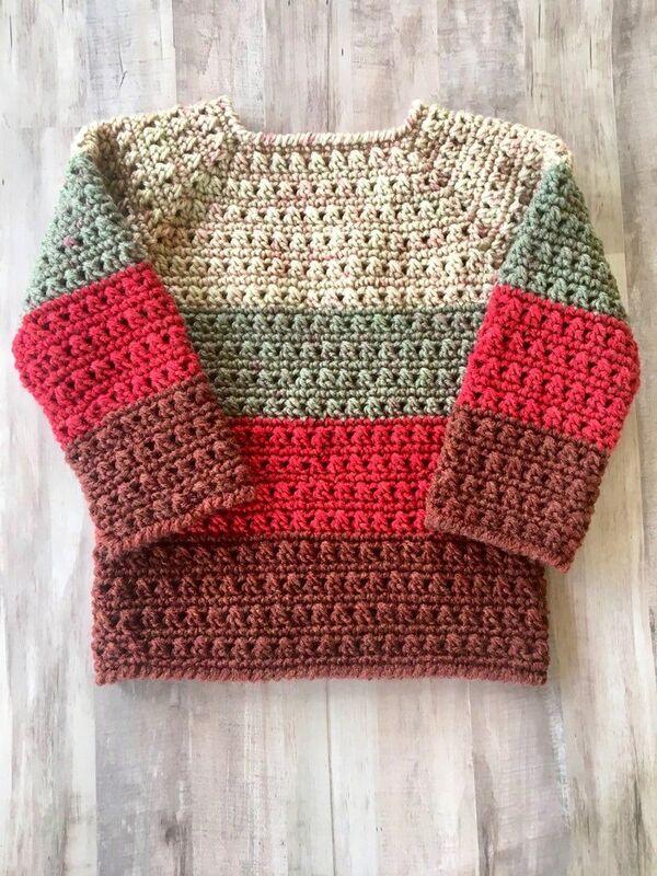 chompas a crochet para niños paso a paso