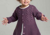 Chompas de lana para niñas a palillo para 8 años