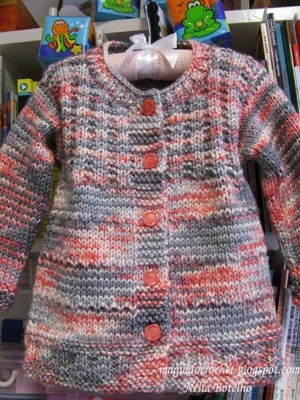 chompas de lana para niñas a palillos paso a paso