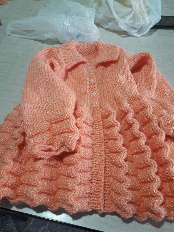 chompas de lana para niñas a palillo