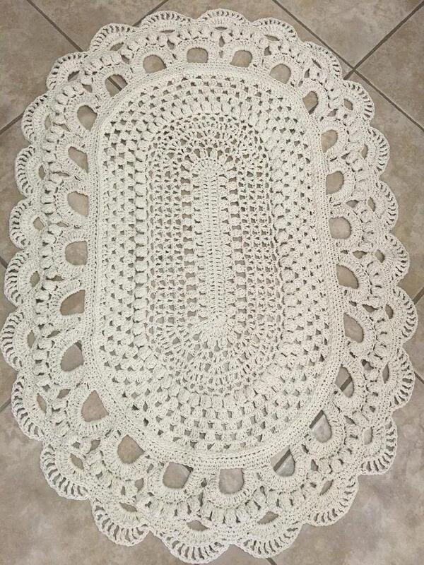 alfombras a crochet paso a paso cuadrada