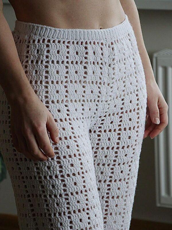 pantalones para dama tejidos a crochet