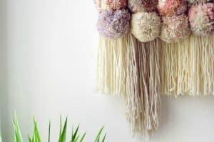 3 pompones de lana para decorar