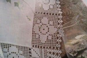 3 Puntillas a crochet para mantel