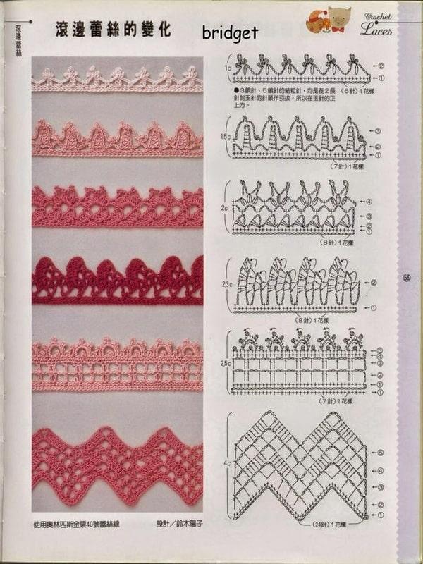 puntillas a crochet sencillas