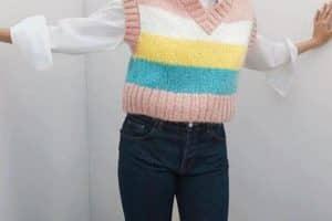 Tejer chalecos de lana mujer talla 32