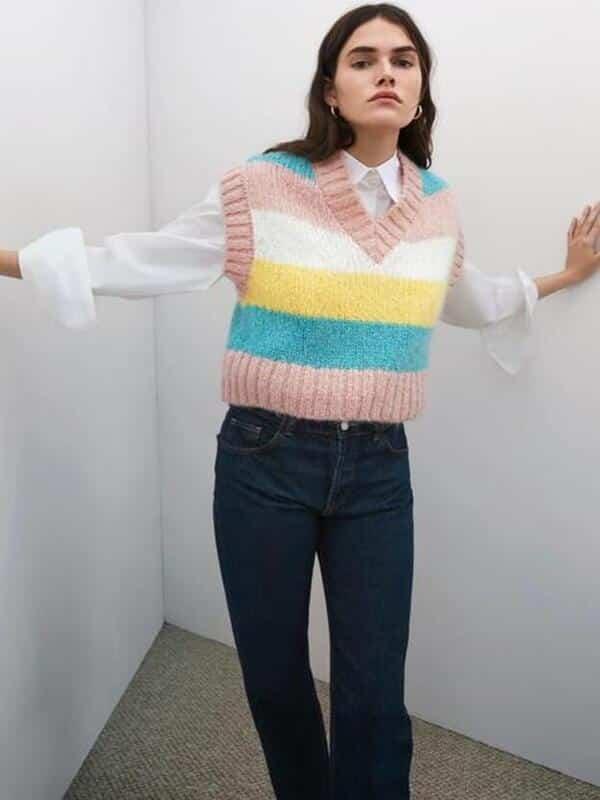 como tejer chalecos de lana mujer