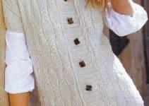 Chalecos tejidos a palillos para mujer en talla 36