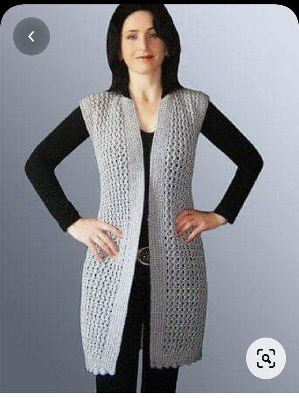 chalecos tejidos para mujer modernos