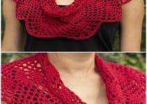 2 cuelleras tejidas a crochet para mujer