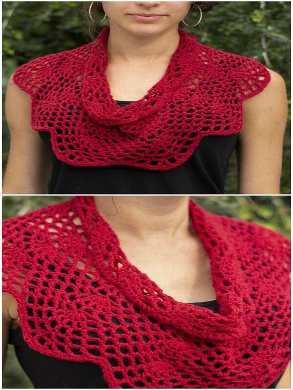 cuelleras tejidas a crochet para mujer
