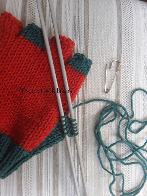 guantes de lana para el frio paso a paso