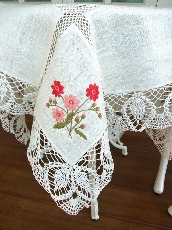 como tejer manteles a crochet rectangulares patrones faciles